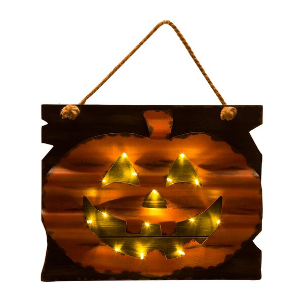 LED Wooden/Iron Pumpkin Wall Decor by Glitzhome