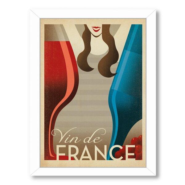 Vin De France Framed Vintage Advertisement by East Urban Home