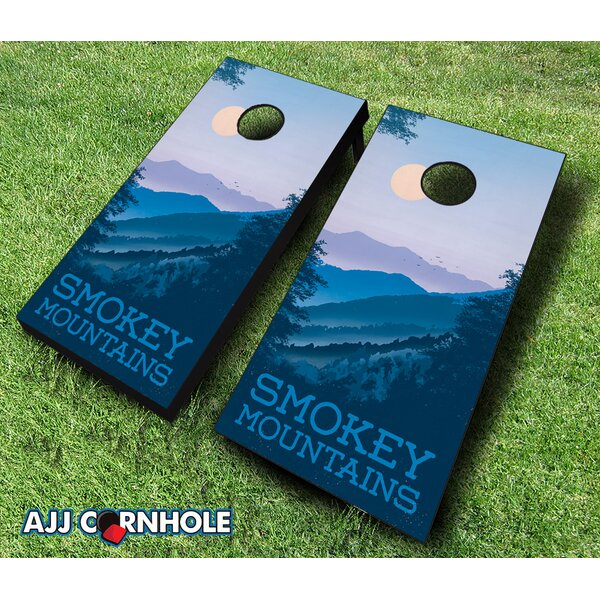 Smokey Mountains Cornhole Set by AJJ Cornhole