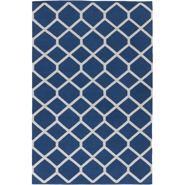 Murphree Blue & Ivory Area Rug by Ebern Designs