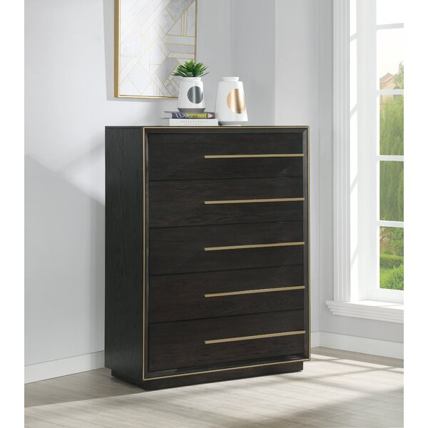 Blairstown Wood 5 Drawer Chest by Everly Quinn