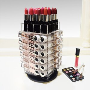 Premium Rotating Lipstick Tower Cosmetic Organizer