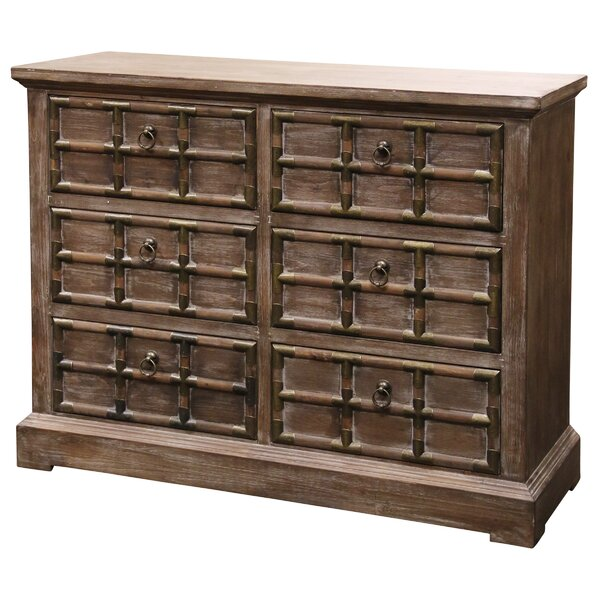 Destini Rustic 6 Drawer Double Dresser by Bloomsbury Market
