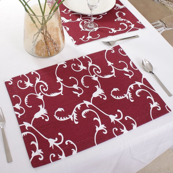 Wooten 19 Placemat (Set of 4) by Fleur De Lis Living