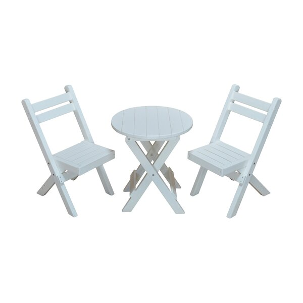 Woollard 3 Piece Bistro Set by Highland Dunes