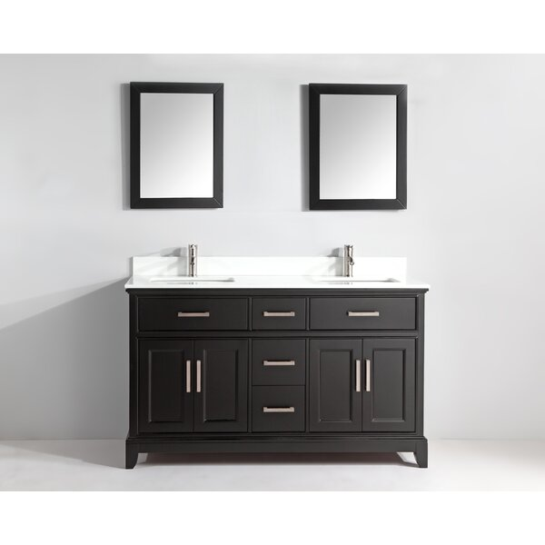Brae 72 Double Bathroom Vanity Set with Mirror by Gracie Oaks