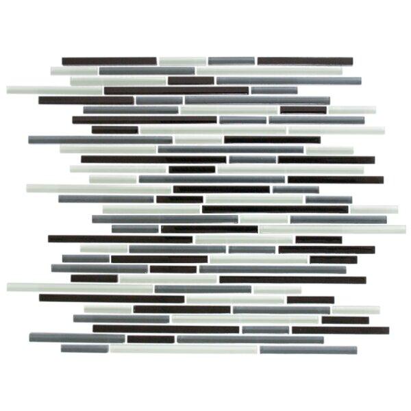 Random Sized Glass Mosaic Tile in Gray/Black by Susan Jablon