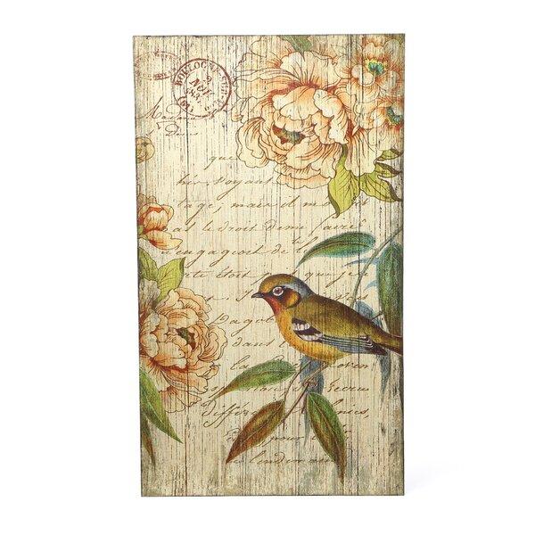 Zena Left Bird Graphic Art Plaque by August Grove