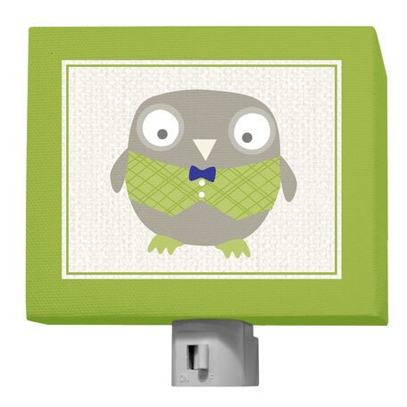 Happy Owl by Vicky Barone Night Light by Oopsy Daisy