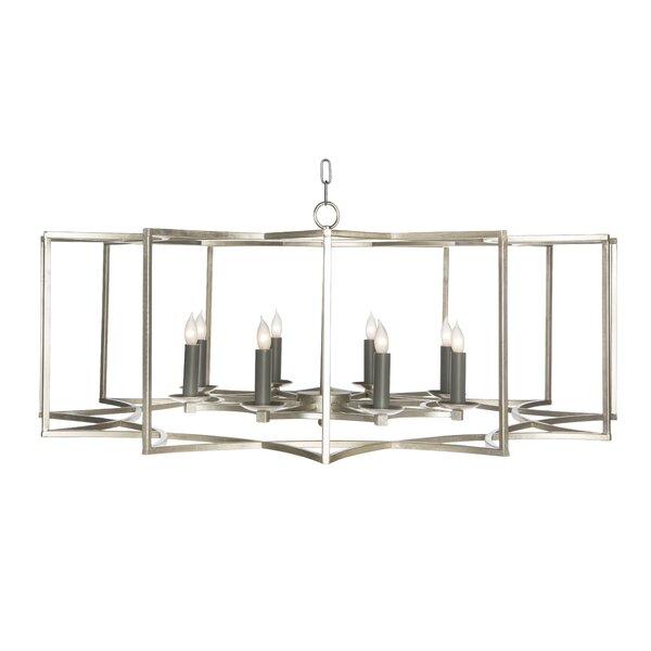 Chan Geo 8 - Light Candle Style Geometric Chandelier by Aidan Gray Aidan Gray