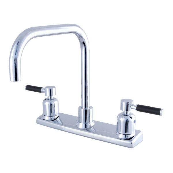 Kaiser Pull Down Double Handle Kitchen Faucet by Kingston Brass