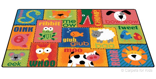 Emerado Animal Sounds Toddler Area Rug by Zoomie Kids