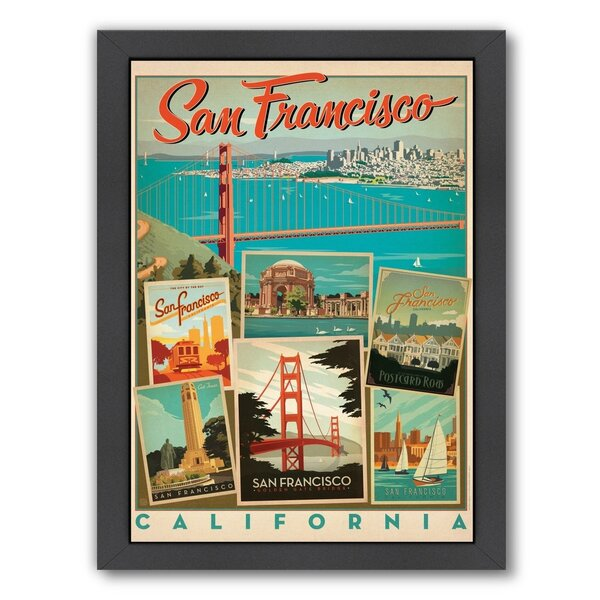 San Francisco Multi-Print Framed Vintage Advertisement by East Urban Home
