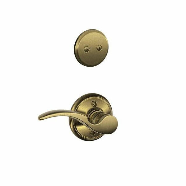 Interior Non-Turning St Annes Lever and Interior Inactive Deadbolt Thumbturn by Schlage