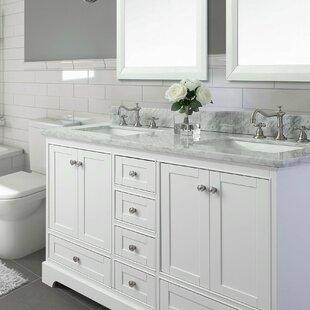 72 Bath Vanity Set With Italian Carrara White Marble Top