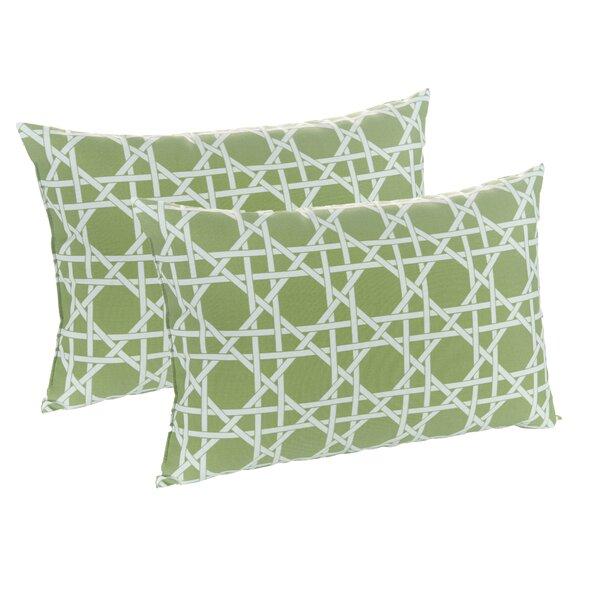 Kane Palm Indoor/Outdoor Lumbar Pillow (Set of 2) by Klear Vu