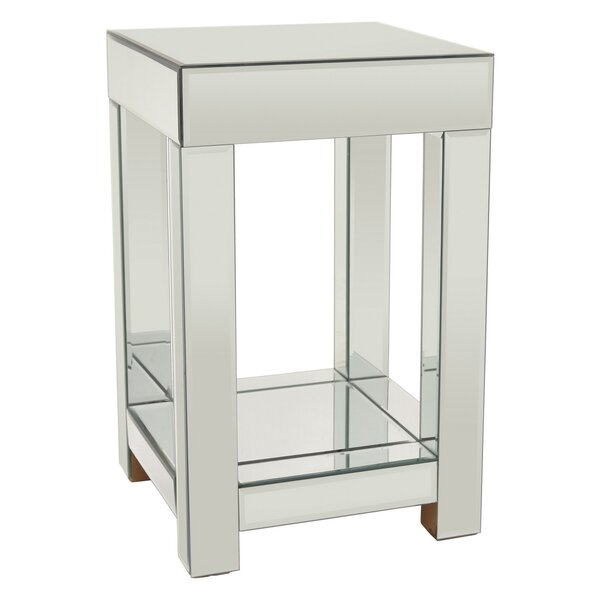 Tawanda Mirrored End Table by Everly Quinn