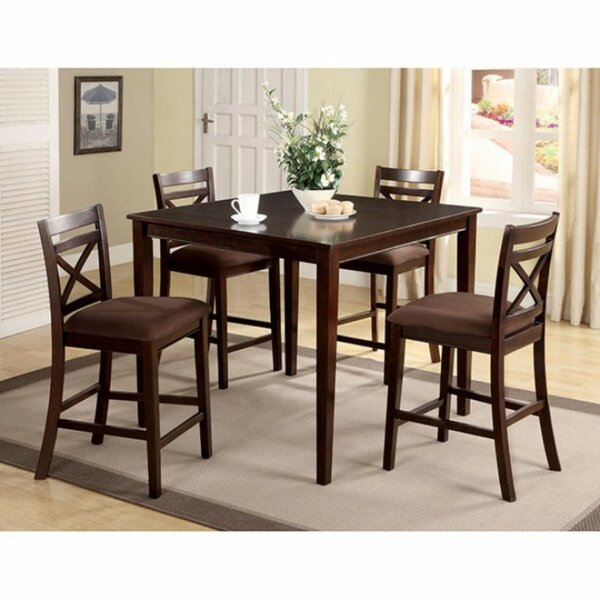 Faucher Transitional 5 Piece Counter Height Dining Set by Darby Home Co
