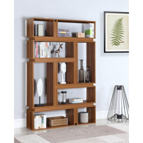 Crary Geometric Bookcase by Brayden Studio