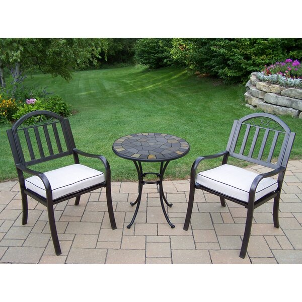 Stone Art Rochester 3 Piece Bistro Set with Cushions by Oakland Living