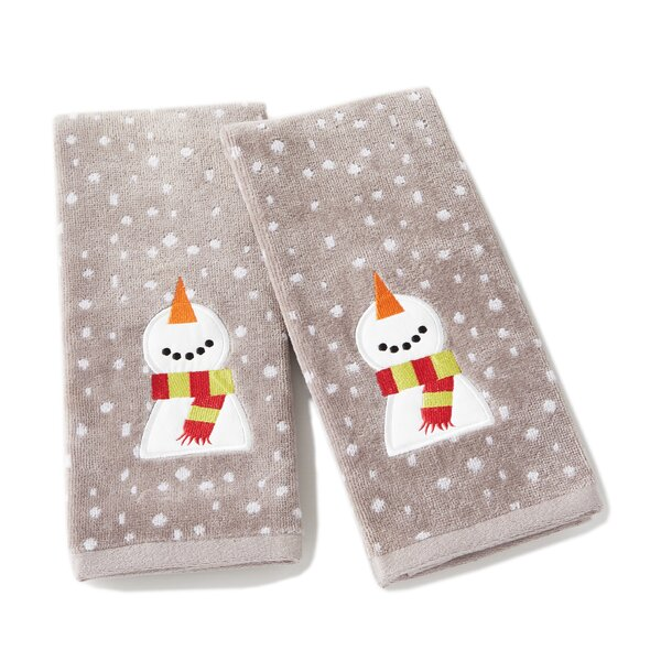 Briscoe Happy Snowman Cotton Hand Towel (Set of 2) by The Holiday Aisle