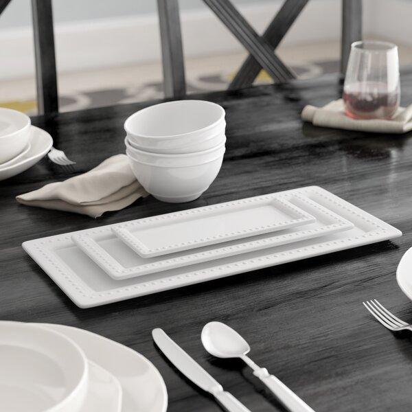 Lathem 3 Piece Porcelain Rectangular Platter Set by Winston Porter