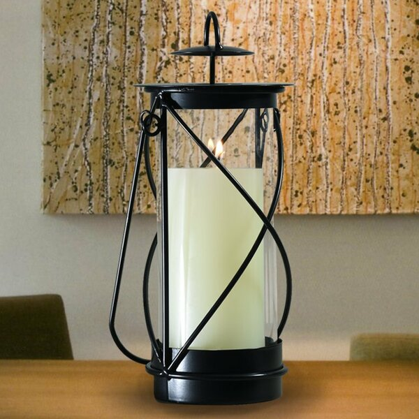 Glass Lantern by Adeco Trading