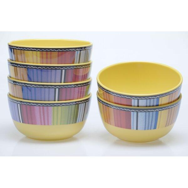 Sands 22 oz. Melamine Dessert Bowl (Set of 6) by Latitude Run