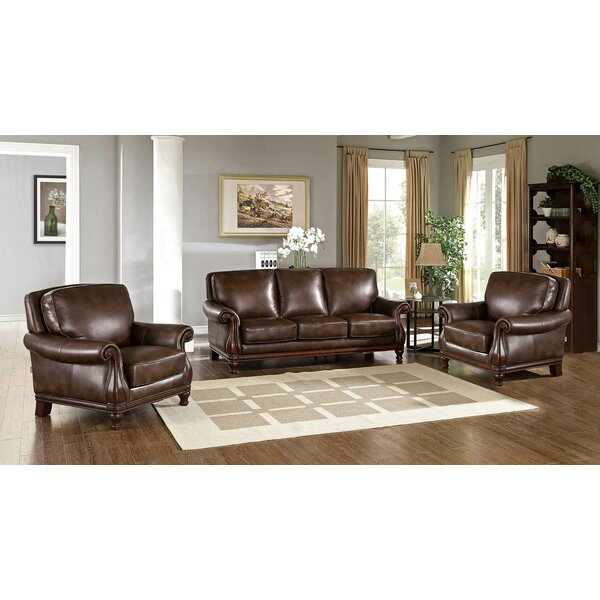 Autumn Leather 3 Piece Living Room Set by Fleur De Lis Living