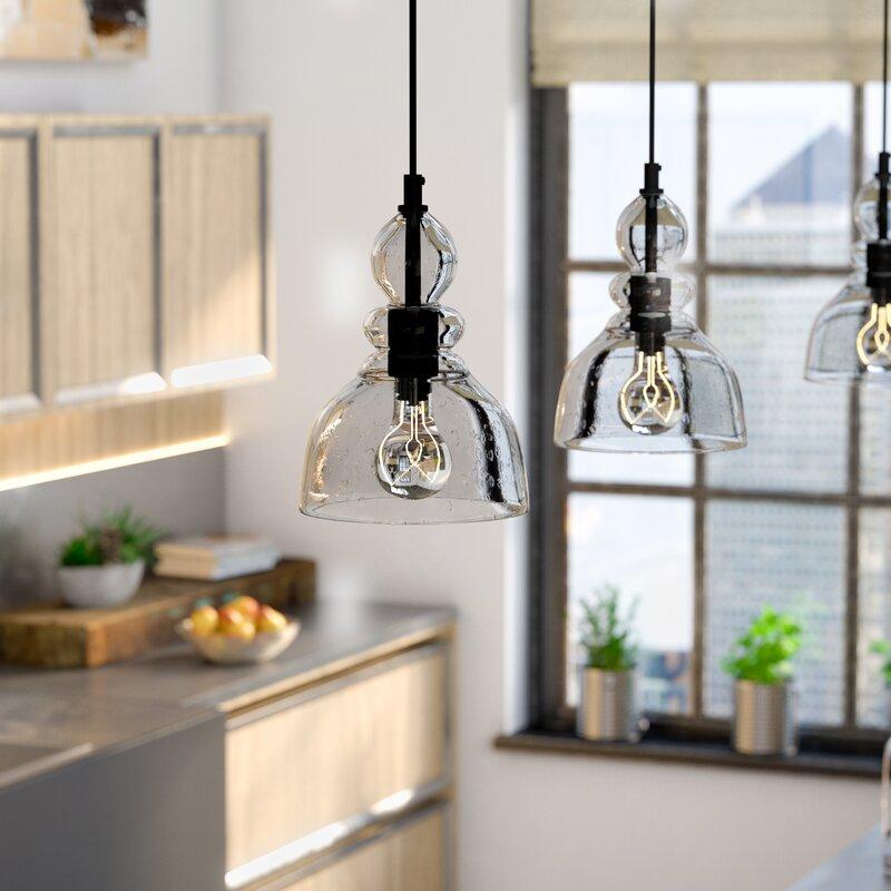 trent austin design wyckhoff 1 light bell pendant reviews wayfair rh wayfair com pendant lighting in kitchen ideas pendant lighting kitchen island lowes