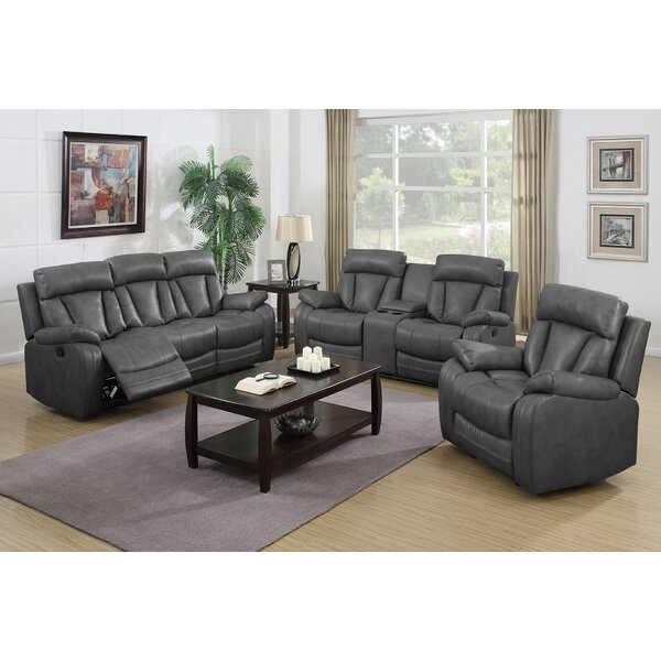 Benjamin Reclining 3 Piece Living Room Set by Nathaniel Home