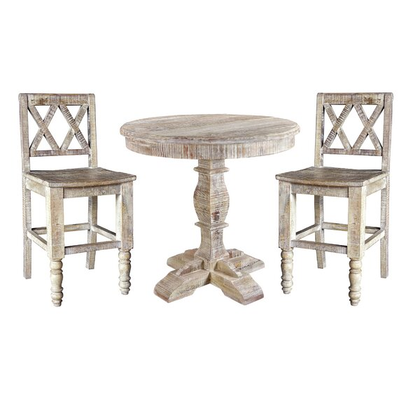 Cummings 3 Piece Pub Table Set by Loon Peak