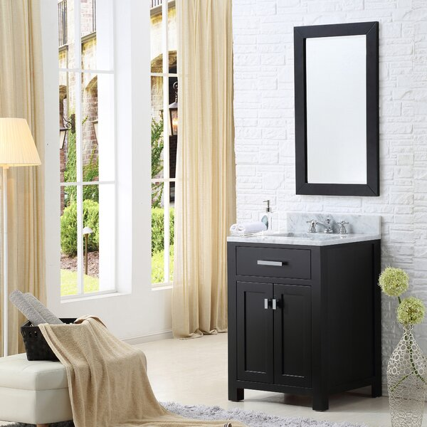 Raven 30 Single Bathroom Vanity Set with Mirror by Andover Mills