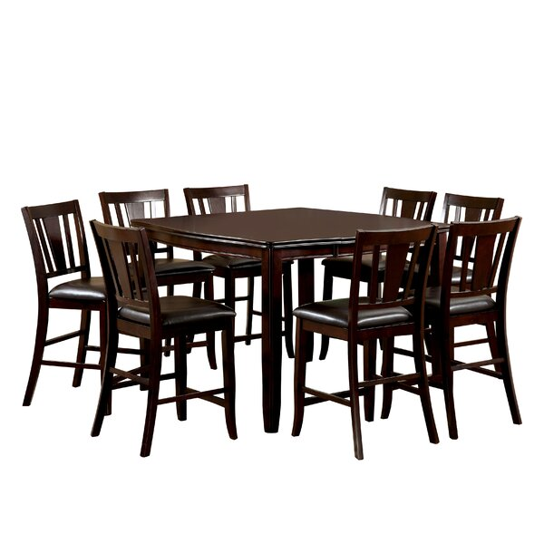 Birchover 9 Piece Counter Height Extendable Dining Set by Red Barrel Studio