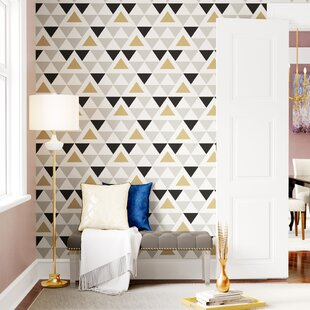 Rodden Triangle 16.5u0027 L X 20.5 W Geometric Peel And Stick Wallpaper Roll