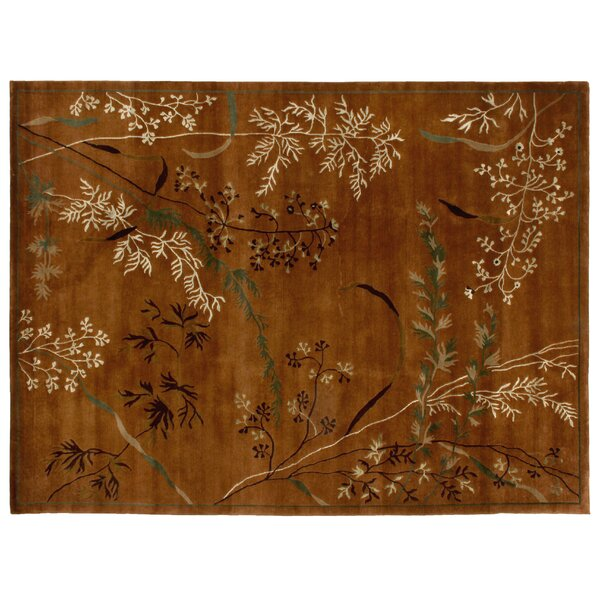 Super Tibetan Hand Knotted Wool/Silk Sage Area Rug by Exquisite Rugs
