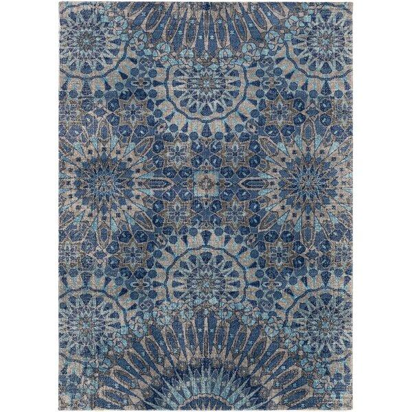 Arabi Oriental Gray/Blue Area Rug by Bungalow Rose
