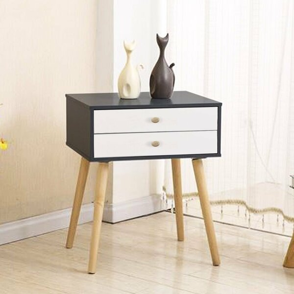 Claussen Modern 2 Drawer Nightstand by Modern Rustic Interiors