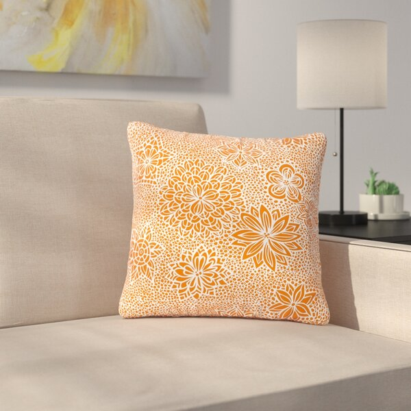 Julia Grifol Garden Flowers Floral Outdoor Throw Pillow by East Urban Home