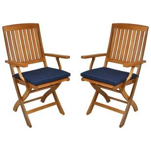 Merveilleux Indoor/Outdoor Folding Patio Chair Cushion (Set Of 2)
