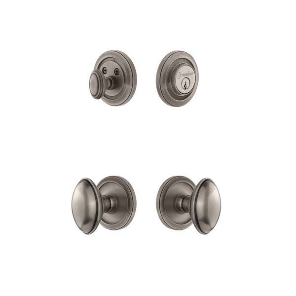Circulaire Single Cylinder Knob Combo Pack by Grandeur