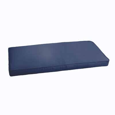 Indoor/Outdoor Bench Cushion Color: Dark Blue