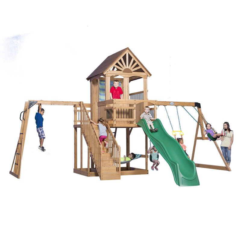 Charmant Oceanview All Cedar Swing Set