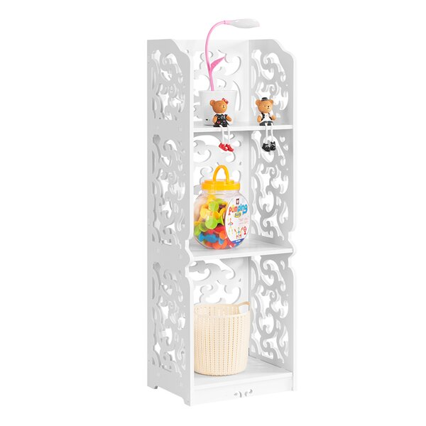 Boudreau 3-Tier Modular Cut-Out Wood Plastic Composite Standard Bookcase by House of Hampton