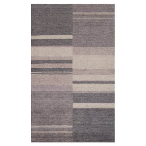 Mangum Hand-Loomed Charcoal Area Rug by Orren Ellis