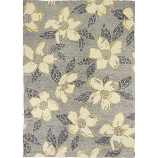 Dorothy Dogwood Light Gray Indoor/Outdoor Area Rug by Charlton Home