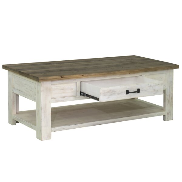 Review Coonrod Solid Wood Coffee Table With Storage