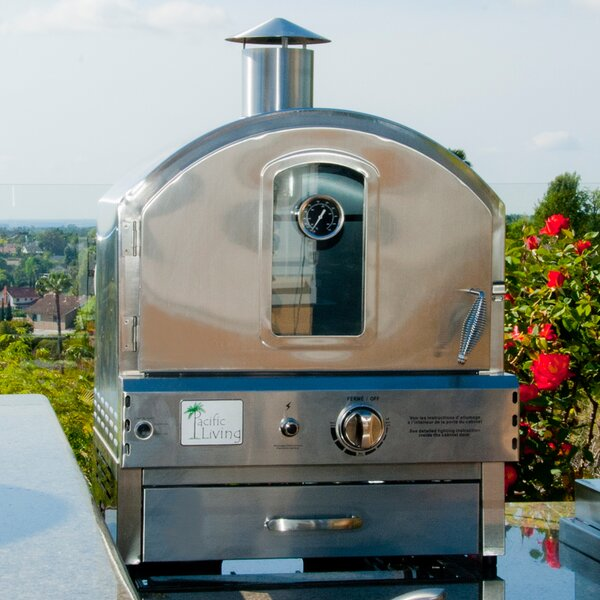 22.8 Outdoor Pizza Oven Gas Grill By Pacific Living.
