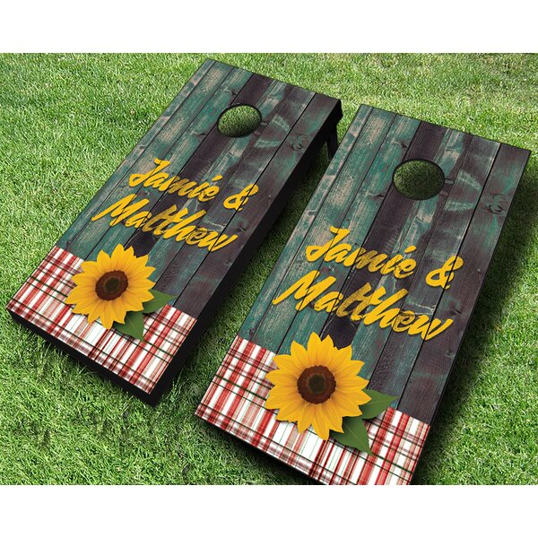 Sunflower Couple Cornhole Set by AJJ Cornhole