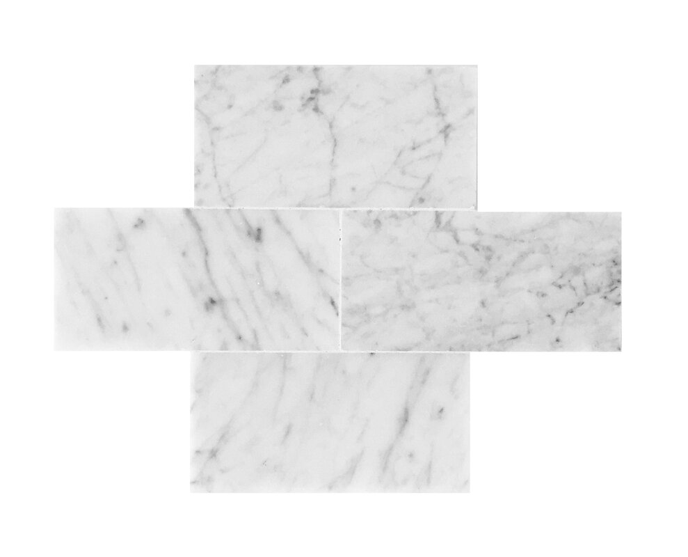 Seven seas bianco carrara 3 x 6 polished marble tile reviews bianco carrara 3 x 6 polished marble tile dailygadgetfo Image collections